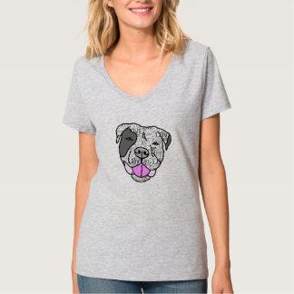 ピット・ブル愛グラフィックのTシャツ Tシャツ