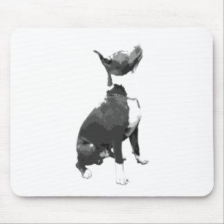 ピット・ブル粋な白黒犬 マウスパッド