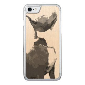 ピット・ブル粋な白黒犬 CARVED iPhone 8/7 ケース
