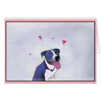 ピット・ブル青いよい犬 カード
