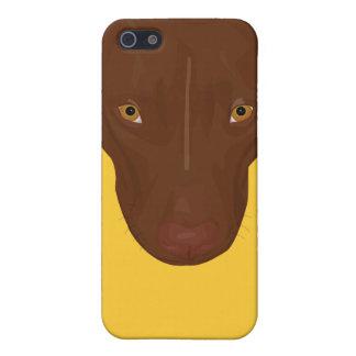 ピット・ブル-デジタル芸術のポートレートの上で閉めて下さい iPhone 5 CASE