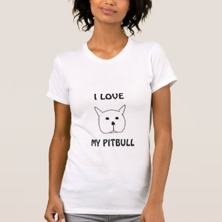 ピット・ブル、私は、私のピットブル愛します Tシャツ