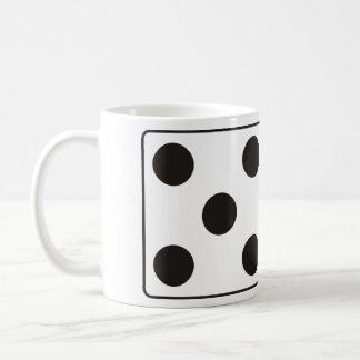 ピップ5及び2のサイコロ数 + あなたのアイディア コーヒーマグカップ