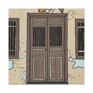 ピナンの古いドア#3a キャンバスプリント