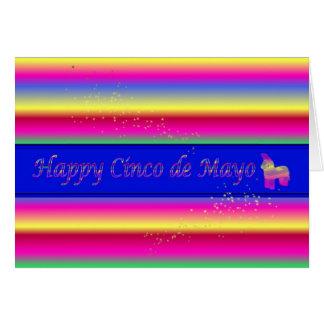 ピニャータの幸せなCinco deメーヨー カード
