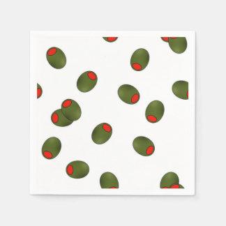 ピメントのオリーブの紙ナプキン スタンダードカクテルナプキン