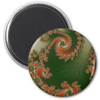ピメントのオリーブ色の二重螺線形の磁石 マグネット