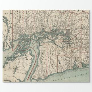 ピュージェットサウンド(1910年)のヴィンテージの地図 ラッピングペーパー