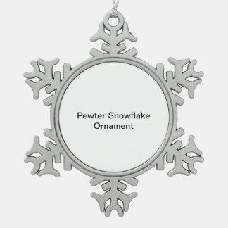 ピューターの雪片のオーナメント スノーフレークピューターオーナメント