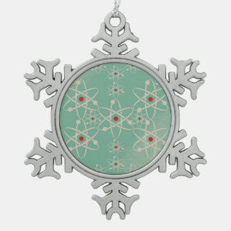 ピューター原子の雪片 スノーフレークピューターオーナメント