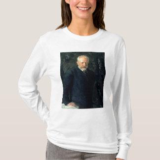 ピョートルIlyich Tchaikovskyのポートレート Tシャツ