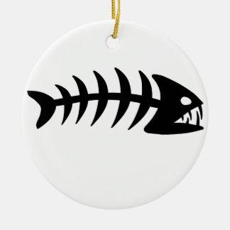 ピラニアの魚の骨 セラミックオーナメント
