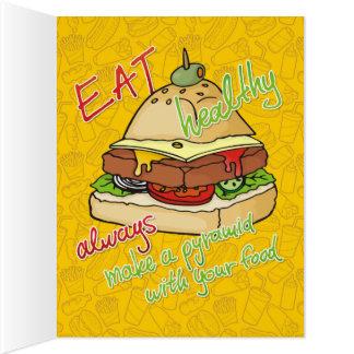 ピラミッドのハンバーガー カード