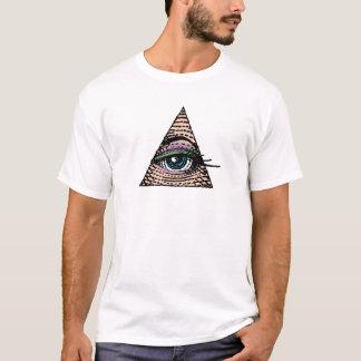 ピラミッドの彼女の目(青い) Tシャツ
