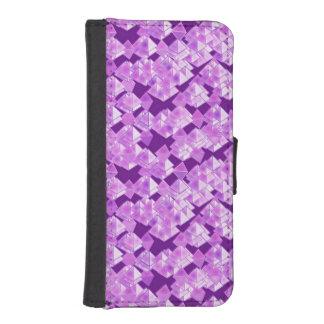 ピラミッドの水晶、ラベンダーおよび紫色 iPhoneSE/5/5sウォレットケース