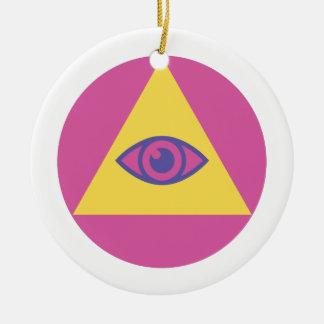 ピラミッドの目 セラミックオーナメント