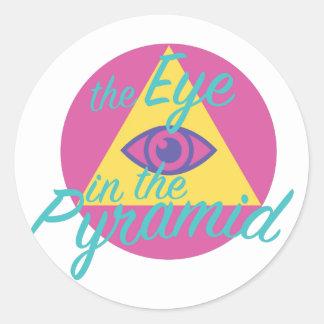 ピラミッドの目 ラウンドシール