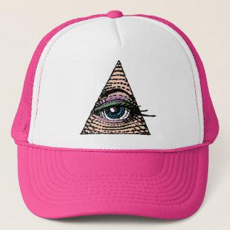 ピラミッドの(青い)帽子の彼女の目 キャップ