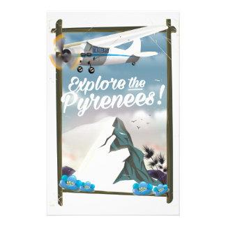 ピレネー山脈のヨーロッパ人山を探検して下さい 便箋
