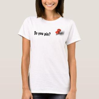 ピンで止めますか。 Tシャツ