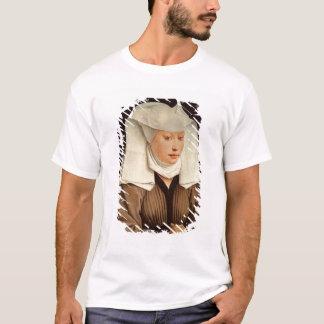 ピンで止められた帽子の若い女性のポートレート、c.1435 tシャツ