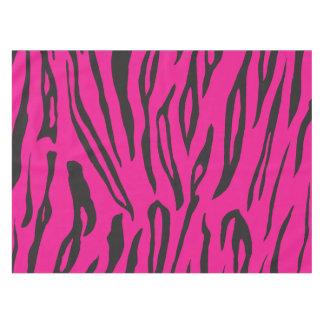 ピンクおよびオレンジ動物のストライプのプリントのテーブルクロス テーブルクロス
