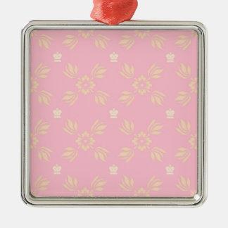ピンクおよびオレンジ装飾用パターン メタルオーナメント