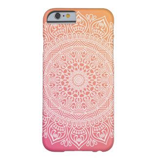 ピンクおよびオレンジBohoの上品のiPhone6ケース Barely There iPhone 6 ケース