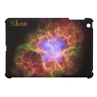 ピンクおよびオレンジiPad Miniケースの蟹星雲 iPad Mini カバー