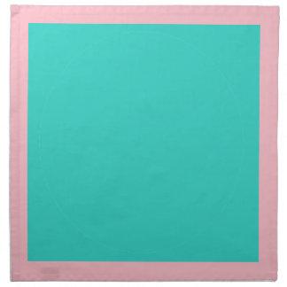 ピンクおよびターコイズのナプキン ナプキンクロス