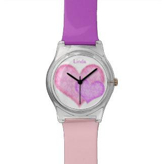 ピンクおよびデキセドリン錠の腕時計 腕時計