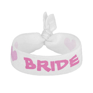 ピンクおよびハートの花嫁のヘッドバンド ヘアタイ