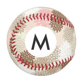 ピンクおよびブラウンのミイラパターン 野球ボール