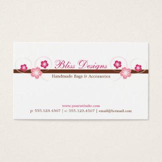 ピンクおよびブラウンの桜の名刺 名刺