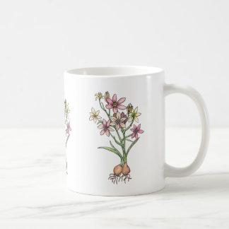 ピンクおよびモモの黙した調子の球根 コーヒーマグカップ