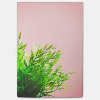 ピンクおよび温室の植物の自然の園芸 ポストイット