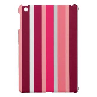 ピンクおよび灰色のストライプのiPadの小型場合の陰 iPad Miniケース