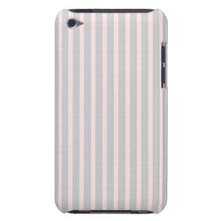 ピンクおよび灰色のストライプ Case-Mate iPod TOUCH ケース