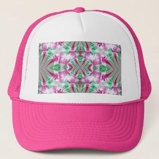 ピンクおよび灰色のフラクタルの帽子 キャップ