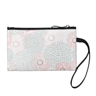 ピンクおよび灰色の花の破烈のデザイン コインパース