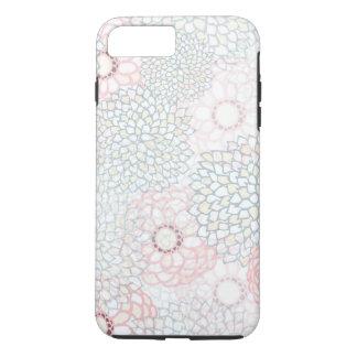 ピンクおよび灰色の花の破烈のデザイン iPhone 8 PLUS/7 PLUSケース