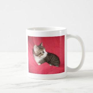 ピンクおよび灰色 コーヒーマグカップ