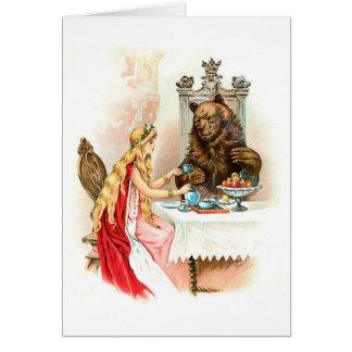 ピンクおよび獣の美しい カード