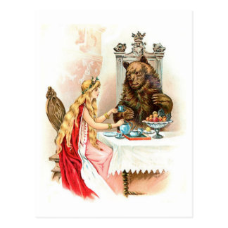 ピンクおよび獣の美しい ポストカード