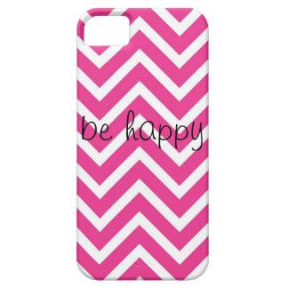 ピンクおよび白いジグザグ形のiphoneの箱 iPhone SE/5/5s ケース
