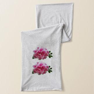ピンクおよび白いツツジのスカーフ スカーフ