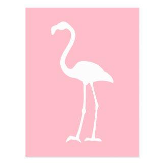 ピンクおよび白いフラミンゴ はがき
