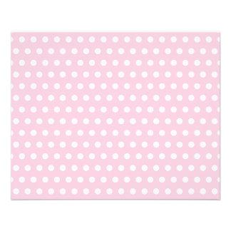 ピンクおよび白い水玉模様パターン チラシ