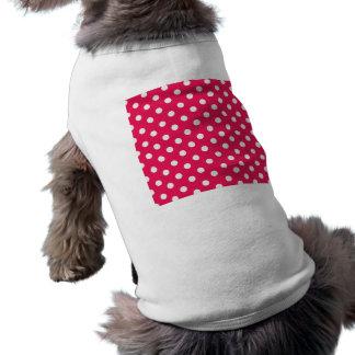 ピンクおよび白い水玉模様 ペット服