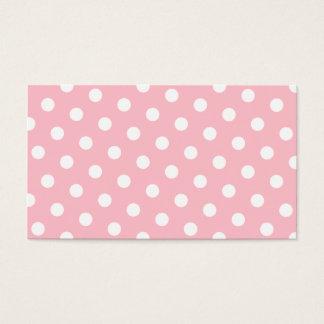 ピンクおよび白い水玉模様 名刺